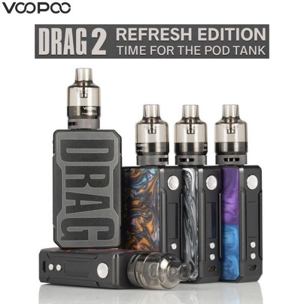 VOOPOO Drag 2 Reflesh Edition Starter kit Platinum model 177W 電子タバコ Pod VAPE|jct-vape