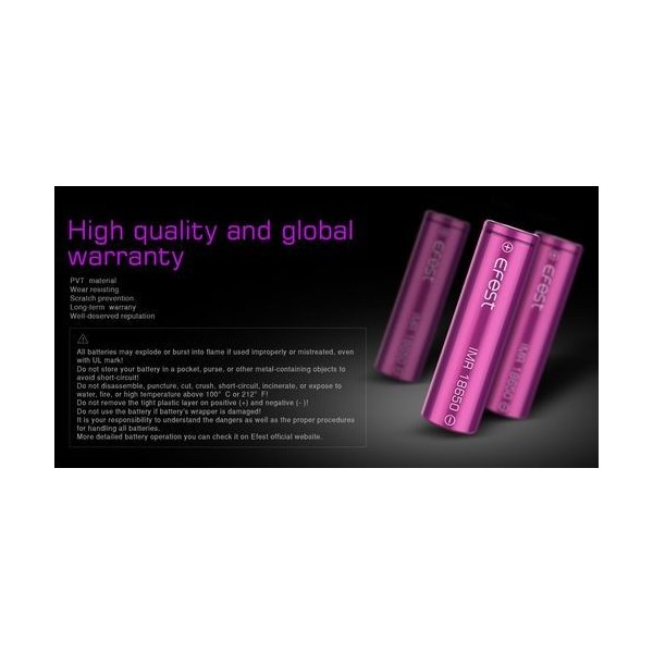 18650 3000mah 35A  2本セット リチウムマンガンバッテリー フラットトップ Efest 電子タバコ PSE認証|jct-vape|04