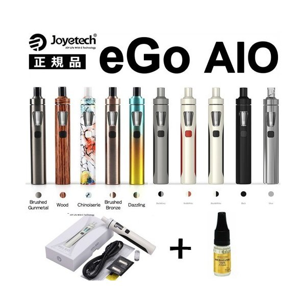Joyetech eGo AIO Kit エゴ アイオ  すぐに使えるリキッド+日本語説明書付 スターターキット 送料無料  電子タバコ|jct-vape