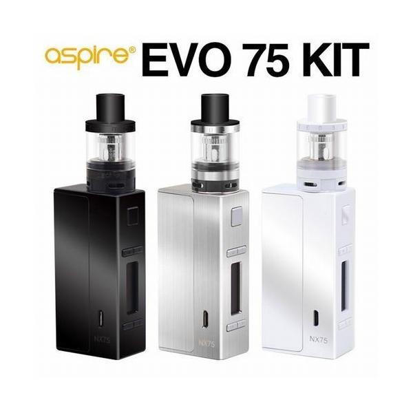 Aspire EVO75 エボ  スターターキット  電子タバコ 正規代理店 18650 VTC5 電池 付|jct-vape