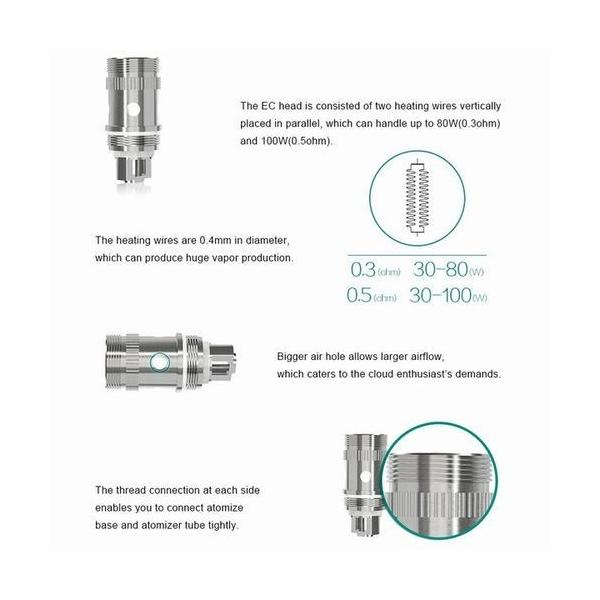 Eleaf EC Head 交換用 コイル iStick Pico 0.3Ω/0.5Ω vape coil 電子タバコ|jct-vape|02