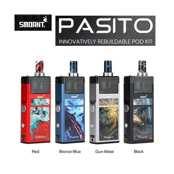 Smoant Pasito Pod Kit スターターキット RBA対応 ポッド 電子タバコ|jct-vape