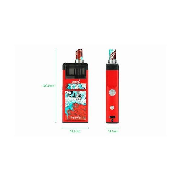 Smoant Pasito Pod Kit スターターキット RBA対応 ポッド 電子タバコ|jct-vape|04