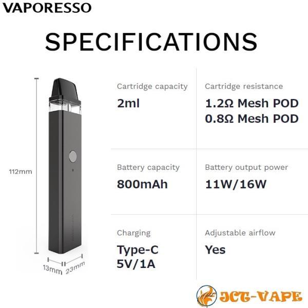 Vaporesso XROS Pod Kit 800mAh ベイパレッソ クロス ポッド スターターキット 電子タバコ VAPE jct-vape 11
