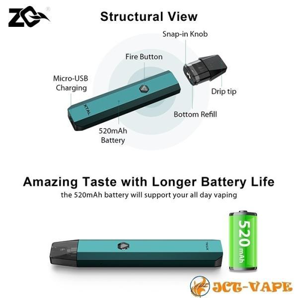 ZQ Xtal スターターキット ゼットキュー エクスタル クリスタル 電子タバコ VAPE|jct-vape|07