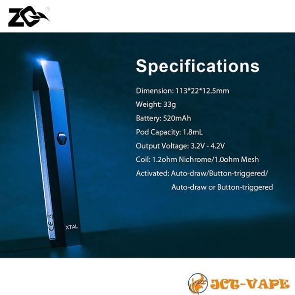 ZQ Xtal スターターキット ゼットキュー エクスタル クリスタル 電子タバコ VAPE|jct-vape|08