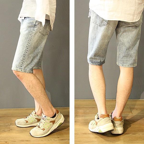 EDWIN エドウィン ハーフパンツ ショートパンツ デニムショーツ ショートデニム ジーンズ ベルト付き ED105 jeans-yamato 02
