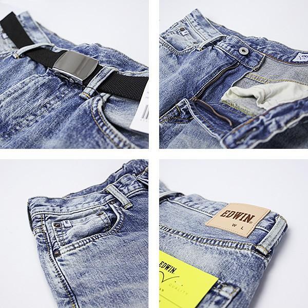 EDWIN エドウィン ハーフパンツ ショートパンツ デニムショーツ ショートデニム ジーンズ ベルト付き ED105 jeans-yamato 03