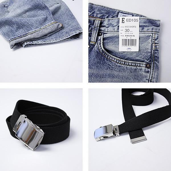 EDWIN エドウィン ハーフパンツ ショートパンツ デニムショーツ ショートデニム ジーンズ ベルト付き ED105 jeans-yamato 04