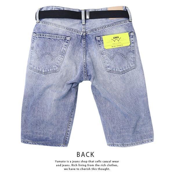 EDWIN エドウィン ハーフパンツ ショートパンツ デニムショーツ ショートデニム ジーンズ ベルト付き ED105 jeans-yamato 08