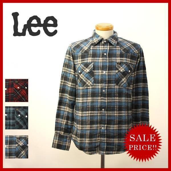 Lee リー チェック ワーク シャツ アメカジ ウエスタン L S レギュラー フィット ポケット メンズ レディース LT0595|jeans-yamato