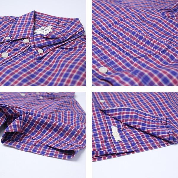 ネコポス対応 チェックシャツ メンズ チェックシャツ 半袖 KEARNEY HOUSE メンズ チェック ワークシャツ 半袖 シャツ レギュラー F5501|jeans-yamato|03