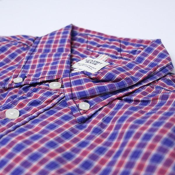 ネコポス対応 チェックシャツ メンズ チェックシャツ 半袖 KEARNEY HOUSE メンズ チェック ワークシャツ 半袖 シャツ レギュラー F5501|jeans-yamato|04