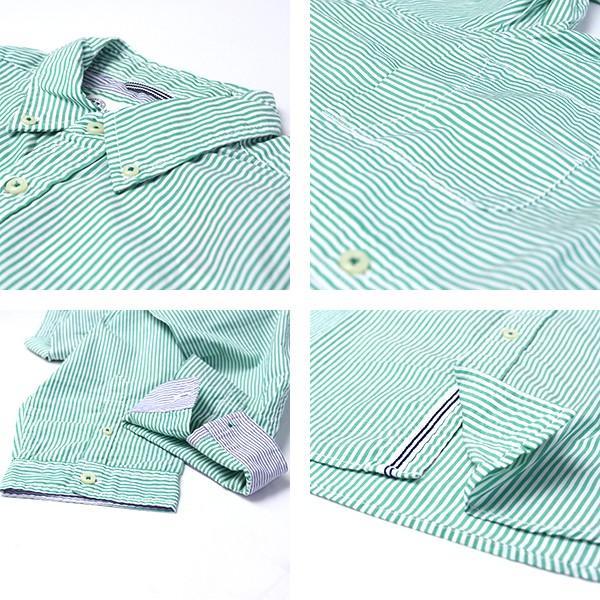 チェックシャツ メンズ チェックシャツ 半袖 KEARNEY HOUSE カーニーハウス メンズ ストライプ ワークシャツ 七分 シャツ G0701|jeans-yamato|02