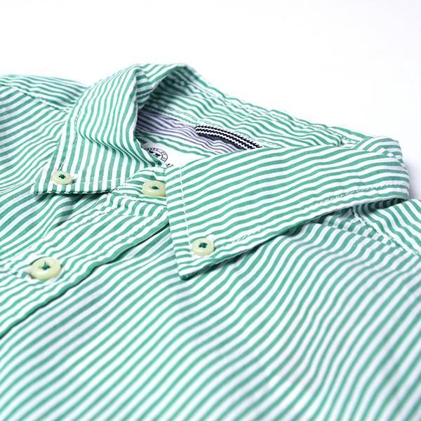 チェックシャツ メンズ チェックシャツ 半袖 KEARNEY HOUSE カーニーハウス メンズ ストライプ ワークシャツ 七分 シャツ G0701|jeans-yamato|03