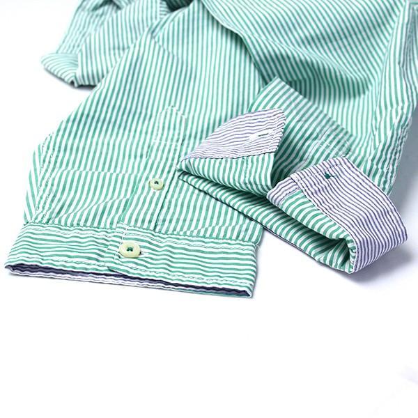 チェックシャツ メンズ チェックシャツ 半袖 KEARNEY HOUSE カーニーハウス メンズ ストライプ ワークシャツ 七分 シャツ G0701|jeans-yamato|05