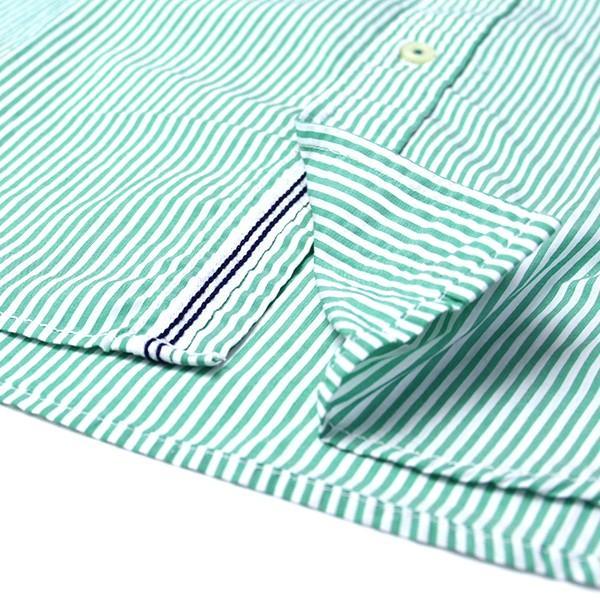 チェックシャツ メンズ チェックシャツ 半袖 KEARNEY HOUSE カーニーハウス メンズ ストライプ ワークシャツ 七分 シャツ G0701|jeans-yamato|06