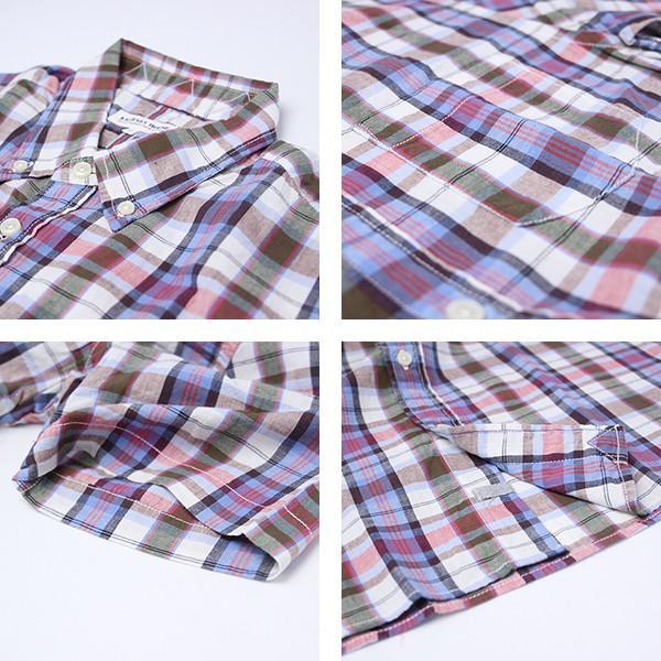 チェックシャツ メンズ チェックシャツ 半袖 KEARNEY HOUSE メンズ チェック ワークシャツ 半袖 シャツ レギュラー G5501-53151|jeans-yamato|02