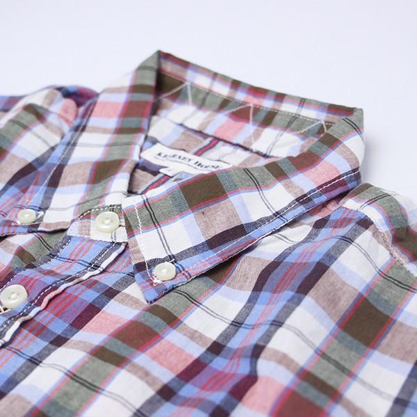チェックシャツ メンズ チェックシャツ 半袖 KEARNEY HOUSE メンズ チェック ワークシャツ 半袖 シャツ レギュラー G5501-53151|jeans-yamato|03