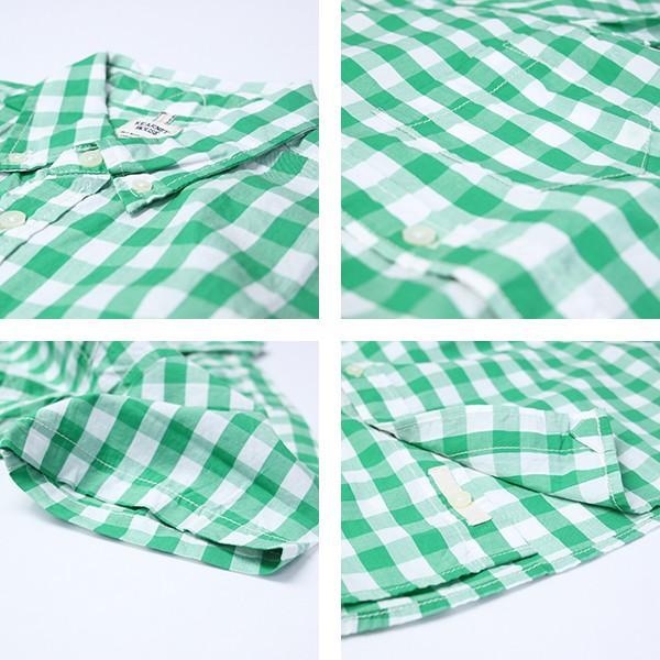 チェックシャツ メンズ チェックシャツ 半袖 KEARNEY HOUSE カーニーハウス メンズ ギンガム チェック ストライプ 無地 ワークシャツ G5501|jeans-yamato|03