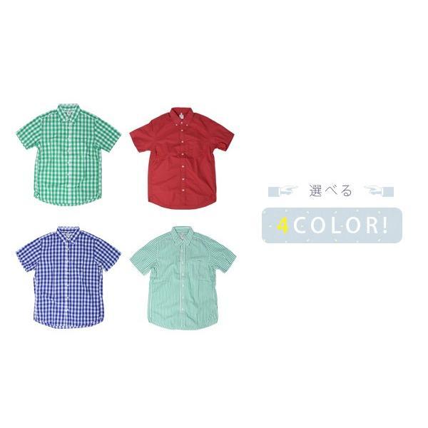 チェックシャツ メンズ チェックシャツ 半袖 KEARNEY HOUSE カーニーハウス メンズ ギンガム チェック ストライプ 無地 ワークシャツ G5501|jeans-yamato|04