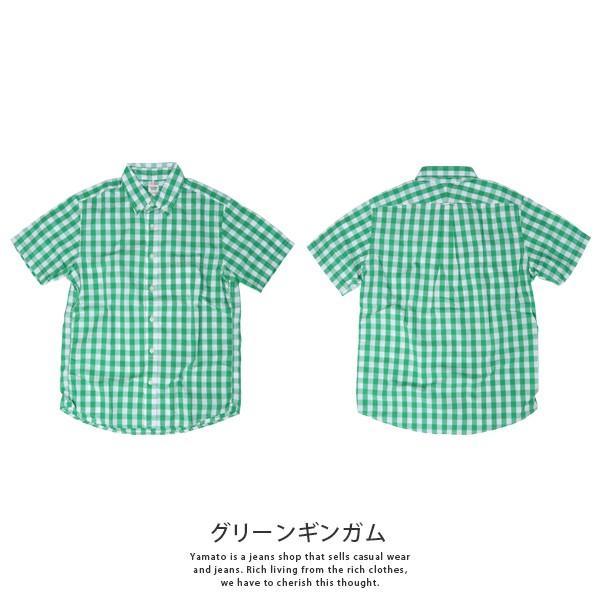 チェックシャツ メンズ チェックシャツ 半袖 KEARNEY HOUSE カーニーハウス メンズ ギンガム チェック ストライプ 無地 ワークシャツ G5501|jeans-yamato|06
