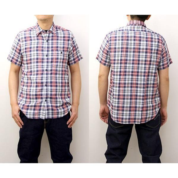 チェックシャツ メンズ チェックシャツ 半袖 KEARNEY HOUSE メンズ チェック ワークシャツ 半袖 シャツ レギュラー H5501-63109|jeans-yamato|02