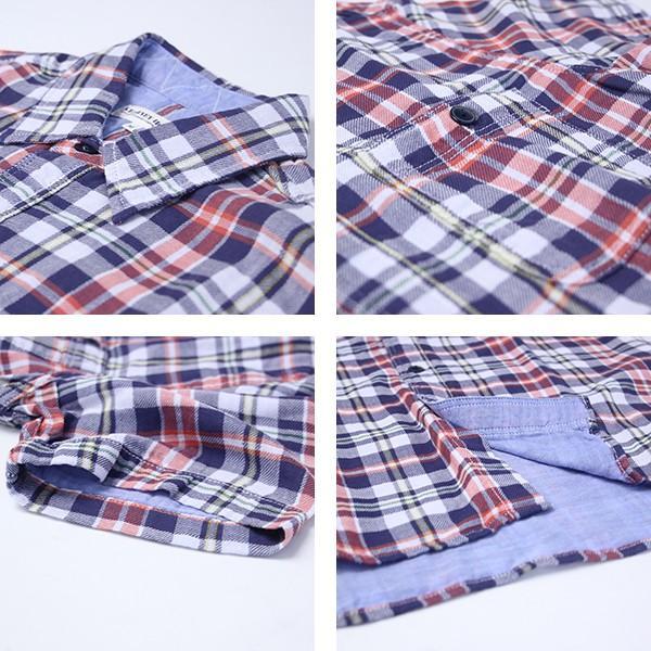 チェックシャツ メンズ チェックシャツ 半袖 KEARNEY HOUSE メンズ チェック ワークシャツ 半袖 シャツ レギュラー H5501-63109|jeans-yamato|04