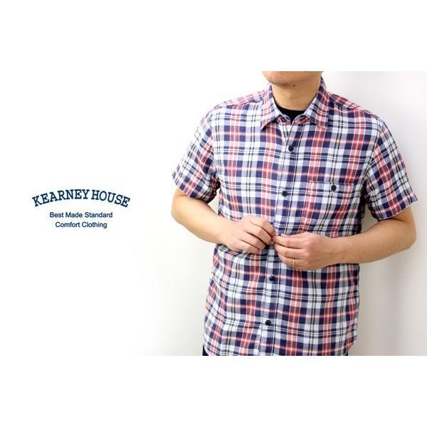 チェックシャツ メンズ チェックシャツ 半袖 KEARNEY HOUSE メンズ チェック ワークシャツ 半袖 シャツ レギュラー H5501-63109|jeans-yamato|05