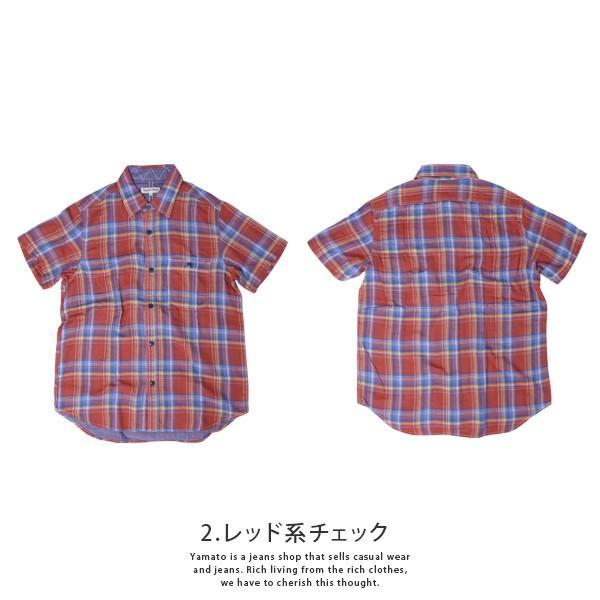 チェックシャツ メンズ チェックシャツ 半袖 KEARNEY HOUSE メンズ チェック ワークシャツ 半袖 シャツ レギュラー H5501-63109|jeans-yamato|08