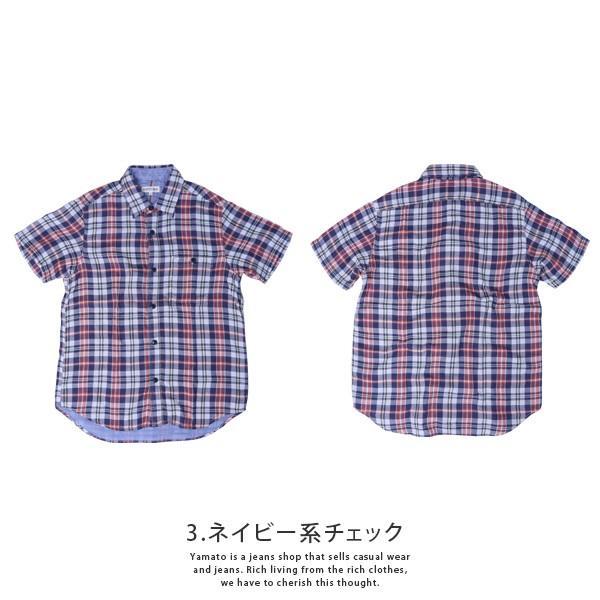 チェックシャツ メンズ チェックシャツ 半袖 KEARNEY HOUSE メンズ チェック ワークシャツ 半袖 シャツ レギュラー H5501-63109|jeans-yamato|09