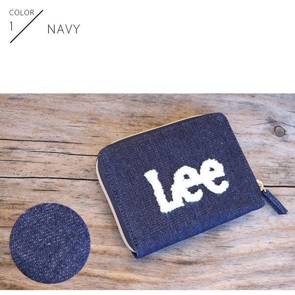 Lee 財布 二つ折り レディース メンズ デニム ジップウォレット サガラ刺繍 0520452|jeans-yamato|02