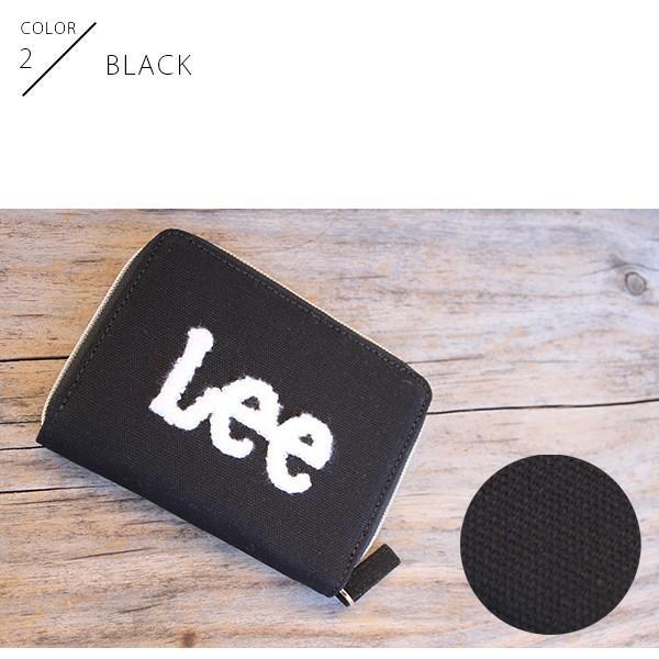 Lee 財布 二つ折り レディース メンズ デニム ジップウォレット サガラ刺繍 0520452|jeans-yamato|03