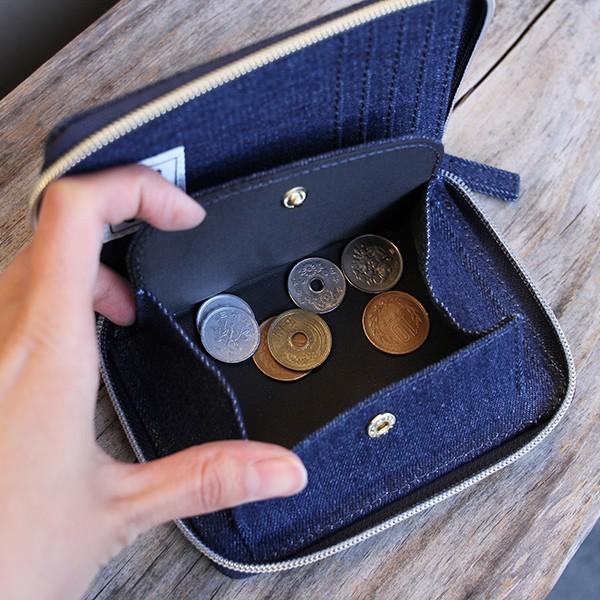 Lee 財布 二つ折り レディース メンズ デニム ジップウォレット サガラ刺繍 0520452|jeans-yamato|06