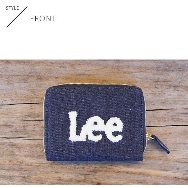 Lee 財布 二つ折り レディース メンズ デニム ジップウォレット サガラ刺繍 0520452|jeans-yamato|07