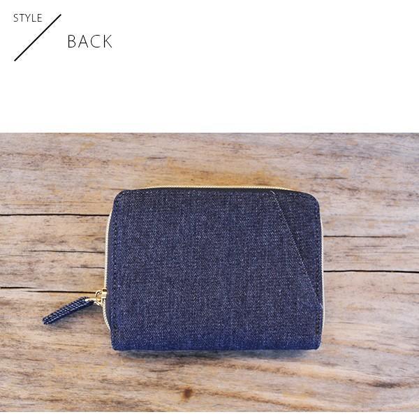 Lee 財布 二つ折り レディース メンズ デニム ジップウォレット サガラ刺繍 0520452|jeans-yamato|08