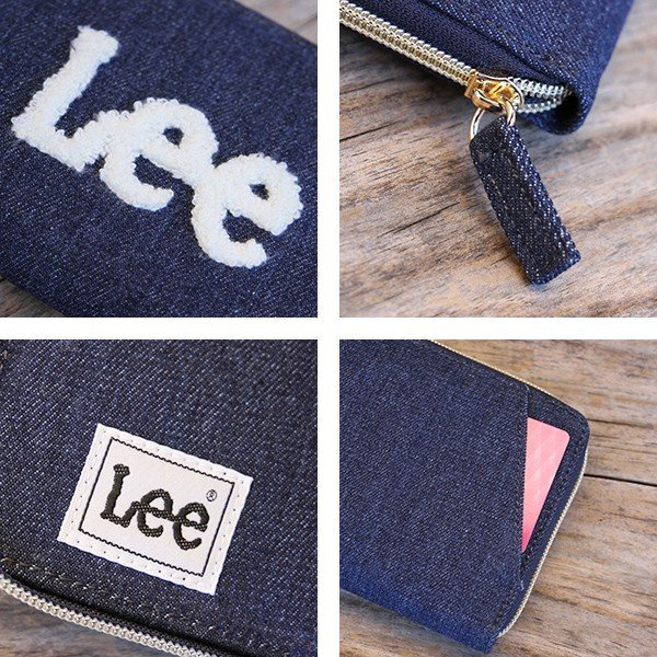 Lee 財布 二つ折り レディース メンズ デニム ジップウォレット サガラ刺繍 0520452|jeans-yamato|09