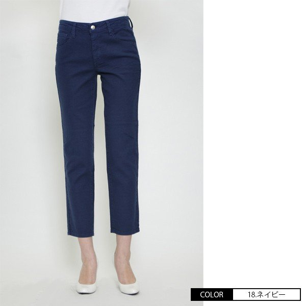 Mrs.Jeana ミセスジーナ サマーストレート パンツ 綿麻 カラーパンツ チノパンツ MJ-4422 jeans-yamato 03