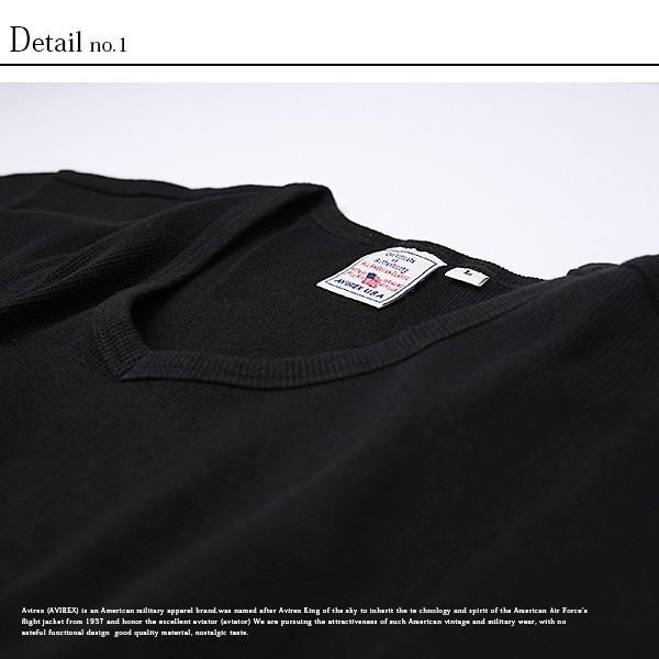 送料無料 ポイント10倍 AVIREX Tシャツ アビレックス Tシャツ Vネック 半袖 定番 無地 デイリー インナー メンズ DAILY WEAR デイリーウェア 6143149|jeans-yamato|07