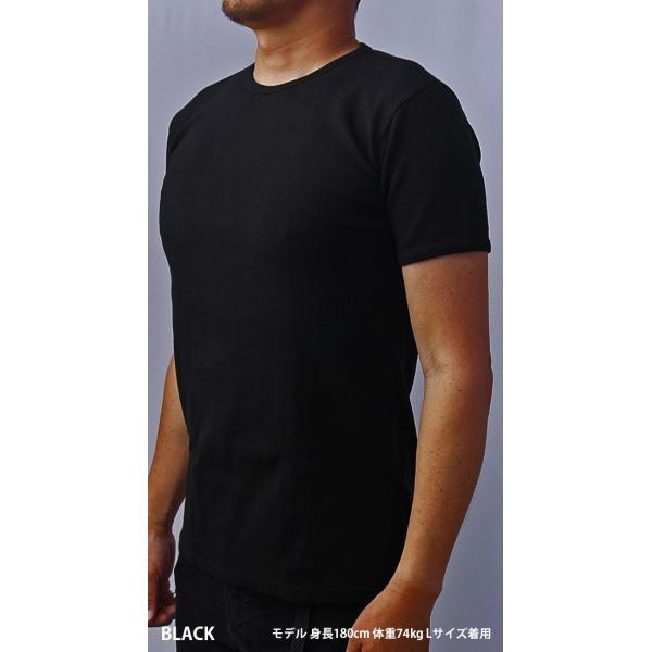 送料無料 ポイント10倍 AVIREX Tシャツ アビレックス Tシャツ Uネック 半袖 定番 無地 ワッフル デイリー インナー メンズ DAILY WEAR デイリーウェア 6143150 jeans-yamato 03