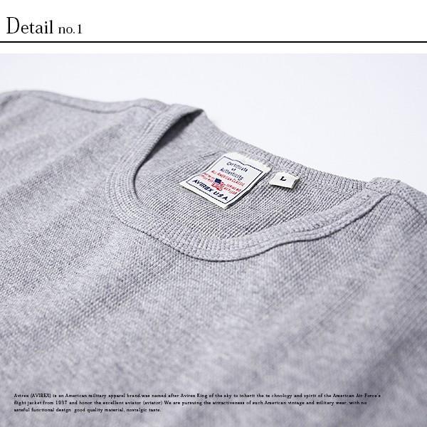 送料無料 ポイント10倍 AVIREX Tシャツ アビレックス Tシャツ Uネック 半袖 定番 無地 ワッフル デイリー インナー メンズ DAILY WEAR デイリーウェア 6143150 jeans-yamato 07