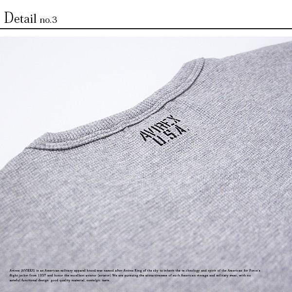 送料無料 ポイント10倍 AVIREX Tシャツ アビレックス Tシャツ Uネック 半袖 定番 無地 ワッフル デイリー インナー メンズ DAILY WEAR デイリーウェア 6143150 jeans-yamato 09
