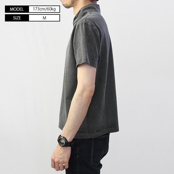 バーンズ Tシャツ 半袖 バーンズアウトフィッターズ ハイネック コンチョ付き BARNS Tシャツ 半袖 無地 小寸編み BR-7901|jeans-yamato|04