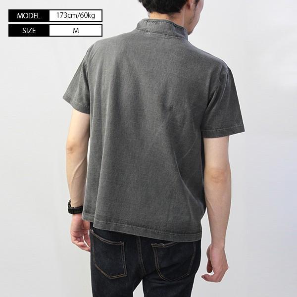 バーンズ Tシャツ 半袖 バーンズアウトフィッターズ ハイネック コンチョ付き BARNS Tシャツ 半袖 無地 小寸編み BR-7901|jeans-yamato|05