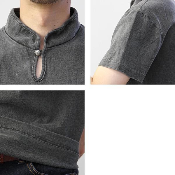 バーンズ Tシャツ 半袖 バーンズアウトフィッターズ ハイネック コンチョ付き BARNS Tシャツ 半袖 無地 小寸編み BR-7901|jeans-yamato|08