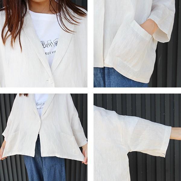 ブリスバンチ bliss bunch 麻 ワイドジャケット ナチュラル服 ナチュラル レディースファッション 694-276|jeans-yamato|07
