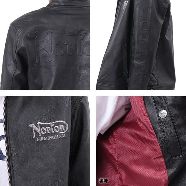 NORTON ノートン デニムシャツ 長袖 裏起毛 シャツジャケット メンズ ストレッチ素材 バイカー バイク乗り 刺繍 193N1503 jeans-yamato 08