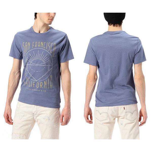 ネコポス対応 リーバイス Levi's グラフィックセットインネックTシャツ 半袖 プリント Tシャツ ブルー アメカジ メンズ 17783-0062 jeans-yamato 02