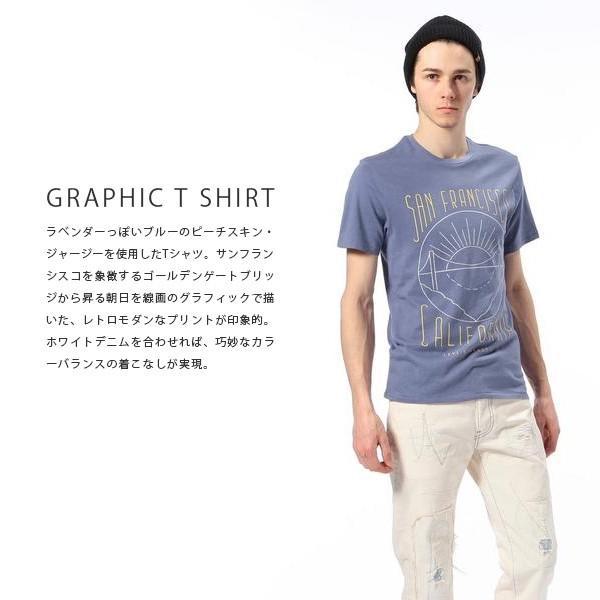ネコポス対応 リーバイス Levi's グラフィックセットインネックTシャツ 半袖 プリント Tシャツ ブルー アメカジ メンズ 17783-0062 jeans-yamato 03