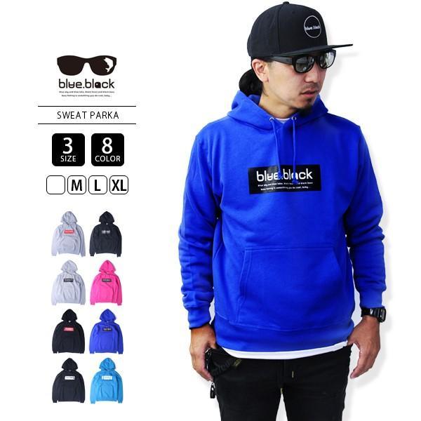 blue.black パーカー ブルーブラック パーカー BOX LOGO PULLOVER PARKA メンズ プリント バス釣り フィッシング アウトドア BBP-001|jeans-yamato